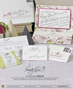 A Peek into the Studio  Watercolor Floral Pattern with Envelopments