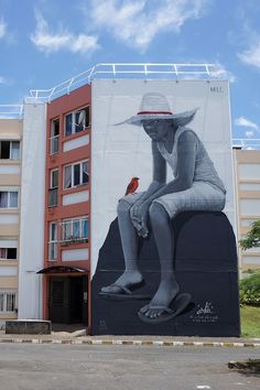 Recently several street artists including Gorg One, Seth Globepainter, and Meo gathered for a street art festival on Reunion Island to turn the La Rose des Vents neighborhood into a mural haven, covering many of its large walls in representational depictions of children, elephants, and sea creat