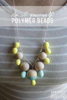 DIY Polymer Clay Beads | Easy tutorial on how to make beads from polymer clay. HandmadeintheHeartland.com