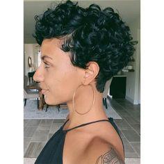 Pixie Cut Curly Hair, Short Curly Cuts, Pixie Haircut Styles, Curly Pixie Hairstyles, Pixie Haircut For Thick Hair, Haircuts For Curly Hair, Curly Hair Styles, Natural Hair Styles, Short Natural Haircuts