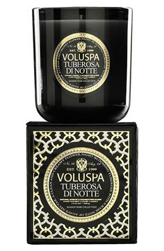 My absolute favorite candle scent.  Voluspa 'Maison Noir - Tuberosa di Notte' Scented Candle | Nordstrom