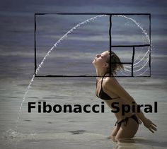 Woman at beach flicking hair shows Fibonacci Spiral