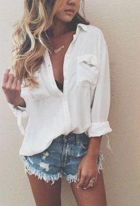 #street #style / casual shirt + shorts