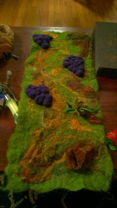 Moon Design, Fiber Art, Tie Dye Skirt, Vines, Handmade, Hand Made, String Art, Arbors, Grape Vines