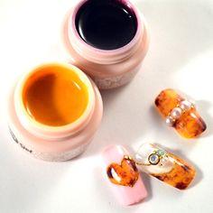 Tortoise Shell Soak-Off Color Gel Set (5g) べっ甲ソークオフカラージェルセット (5g) #ドットジェル #dotgel