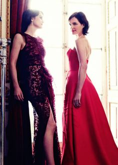 The ladies of Downton Abbey for Harpers Bazaar UK August 2014_6.png