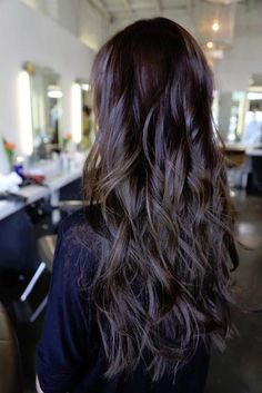 Beautiful, long dark locks with layers.
