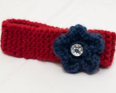 Knitted Headband with Flower by CoastieChixCreations on Etsy, $10.00
