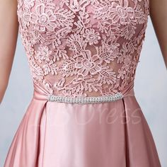 Chic A-line Scoop Pink Satin Applique Modest Prom Dress Evening Dress – AmyProm Maroon Prom Dress, Prom Dresses Blue, Homecoming Dresses, Girls Dresses, Bridesmaid Dresses, Formal Dresses, Party Dresses, Evening Dresses Plus Size, Prom Dress Shopping