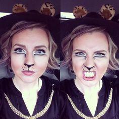 Puss in Boots Halloween Makeup - Taylor Nick at William Edge Salon in Nashville, TN