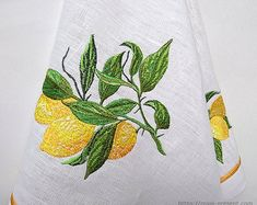 Looking for Foods embroidery designs? Add a fresh look to lightweight towels, tote bags, aprons, quilts, and more with a delightful fruit medley! Embroidery Designs Online, Types Of Embroidery, Machine Embroidery Patterns, Monogram Fonts, W 6, Gold Flowers, Lettering Design, Sewing Projects, Cross Stitch