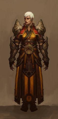 Diablo  Female Monk Not My Artwork