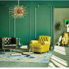 Wall moldings in bedroom. Anthropologie | 2016 Spring Home Lookbook | Inspired Living
