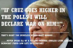 Trump: I'll 'go to war' with Cruz if he rises higher? #TedCruz2016