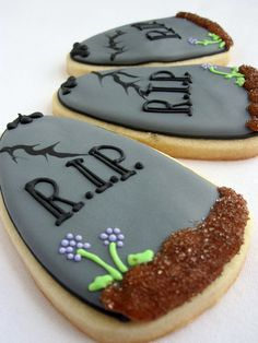 Tombstone cookies - so clever!