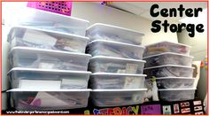 Keeping your math and literacy centers organized! Organization in the classroom!