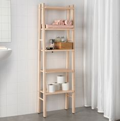 IKEA VILTO shelving unit Perfect in a small bathroom. Ikea Small Spaces, Small Space Storage, Furniture For Small Spaces, Space Furniture, Furniture Ideas, Ikea Garden Furniture, Bathroom Furniture, Furniture Movers, Antique Furniture