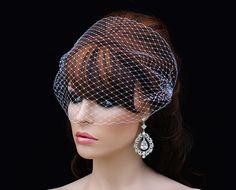 SALE Bird Cage Veil Comb Bridal Hair Piece by EleganceByKate