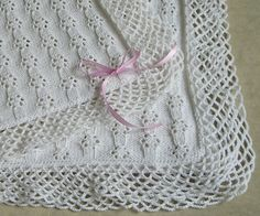 Knitted Lace Baby Blanket || Free Pattern