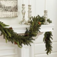 Looking for the Mixed Cedar Christmas Garland to help Deck Your Halls this season? Shop Ballard Designs for fun new Christmas and Holiday items. Get the Mixed Cedar Christmas Garland here and show off your festive style! Christmas Mantels, Rustic Christmas, Christmas Holidays, Christmas Wreaths, Christmas Ideas, Holiday Ideas, Christmas Staircase Decor, Vintage Christmas, Christmas Traditions