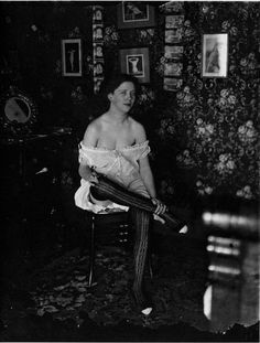 E. J. Bellocq: A prostitute with in Storyville, New Orleans, c. 1912.