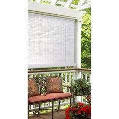 Do it yourself patio shades diy retractable solar screen kits 96 x 96 reed roll up outdoor blind3999 style selections radiance solutioingenieria Gallery