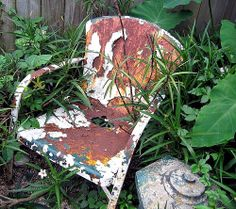 Rusty White Chair