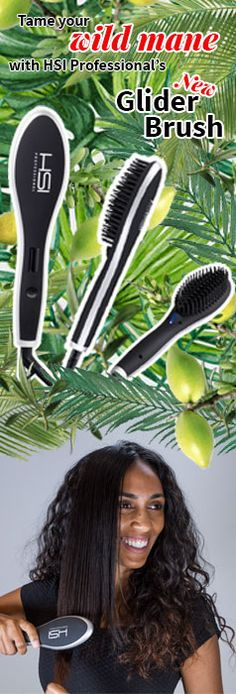 The Glider Straightening Brush features an ionic ceramic tourmaline-infused hot plate that uses 4 HeatBalance® microsensors to regulate the temperature and evenly distribute heat so that fewer passes
