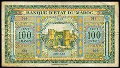 100 Francs DU Maroc 1 5 1943 | eBay
