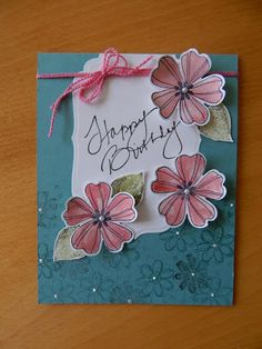Dianne's cards-CAS card by Judy May--SU Flower Shop stamp
