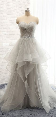 Fashion Long Tulle Prom Dresses, Evening Dresses, Party Dresses