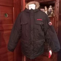 Nice Jacket Weatherproof Jacket Weatherproof,shell:100%polyester,Linnig:100%polyester,Filler:100%polyester,Faux fur:85%acrylic,15%polyester,exclusive of decoration.black. Weatherproof Jackets & Coats