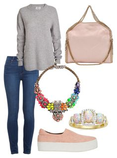 """Pink Rainbow"" by rita-coppola on Polyvore featuring moda, Paige Denim, Opening Ceremony, SHOUROUK e STELLA McCARTNEY"