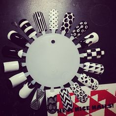 Black and White... i wouldnt do my nails like this, but i could use the patterns on other things