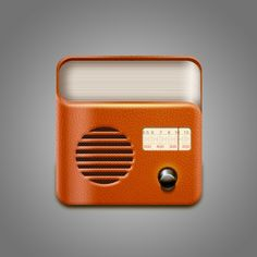 vintage-leather-radio-icon-psd_280-13673193115504.jpg (626×626)
