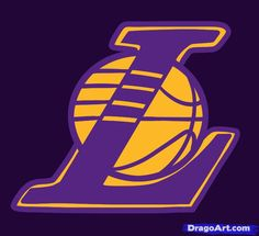 how to draw the lakers, the lakers logo