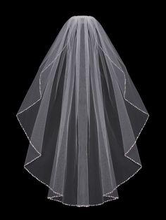 Affordable Elegance Bridal - Beaded Fingertip Length Wedding Veil enVogue V702SF, $74.99 (http://www.affordableelegancebridal.com/beaded-fingertip-length-wedding-veil-envogue-v702sf/)