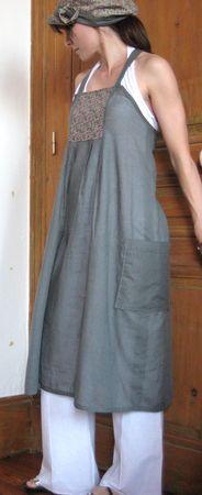 Tablier super simple - à porter avec un col roulé en hiver par exemple :)