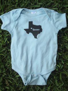 Texas Baby Bodysuit by CraftsbyCasaverde on Etsy, $13.00