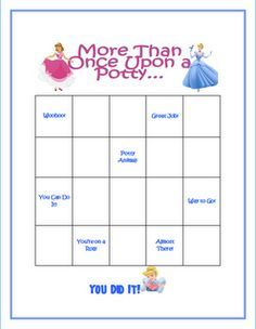 princess potty training chart