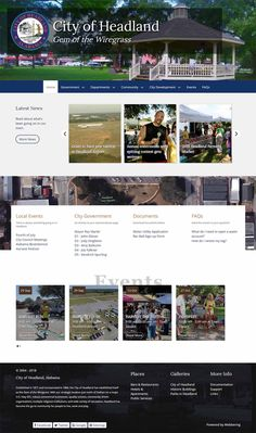 Official website for the City of Headland, located in Henry County, Alabama, United States City Government, Local Events, Community Events, Design Development, Alabama, United States, Website, U.s. States