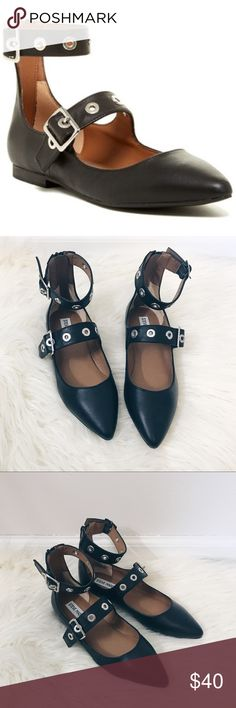 Steve Madden NIB Iridessa Ballet Flats Ankle Strap New in box. Such cute flats!   So cute on. Great for fall. Steve Madden Shoes Flats & Loafers