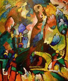 Wassily Kandinsky, Quadro con arciere (opera di Kandinsky), 1909 on ArtStack #wassily-kandinsky-vasilii-vasil-ievich-kandinskii #art