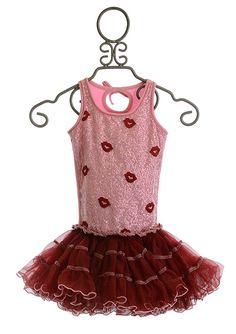Ooh La La Couture Girls Special Occasion Dress Red Kisses PREORDER $88.00