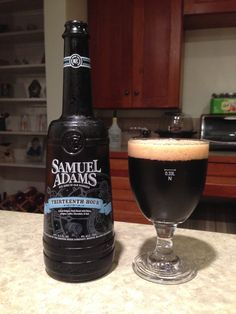 Samuel Adams Thirteenth Hour:  Day 90: Samuel Adams Thirteenth Hour from The Boston Beer Company. Style of beer is 'Belgian-style Stout'. ABV is 9.0%.   Read more at http://www.beerinfinity.com/beer-of-the-day-samuel-adams-thirteenth-hour/.
