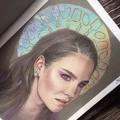 When they draw your makeup on better than you do your makeup holy shit guys @bokkei DREW this like with her HANDS and even added a real HL halo using holo NAIL POWDER!! I'm still thanking the holo gods for the creation of this masterpiece the talent is amazing go show her some love @bokkei ❤️