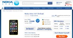 Nokia Asha 501 Dual SIM phone now available in India   Already been made available for affordable and colorful Nokia full touch dual-SIM phone Asha 501 in India is the official Nokia Online Shop in just 5199 Rs. price.
