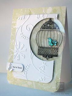 Bird on acetate card