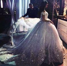 Cinderella wedding dress : )