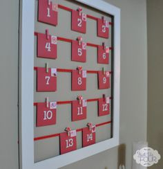 "Simple Valentine's Day Countdown ""calendar"" #ValentinesDay #crafts"